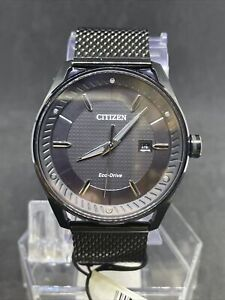 Citizen BM6988-57E Eco-Drive Black Dial Mesh Band Men's Watch #19