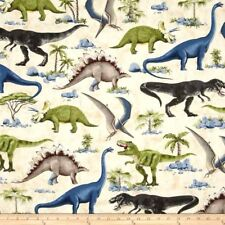 DINOSAURS Fabric Fat Quarter Cotton Craft Quilting Jurassic Timeless Treasures