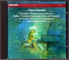 Clara HASKIL: CHOPIN Piano Concerto No.2 FALLA Noches en los jardines MARKEVITCH