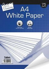 75 X A4 80gsm Blanco Brillante Oficina Escuela Papelería Papel de Copia de impresión doméstica