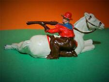 JOHILLCO JOHN HILL VINTAGE 1950s LEAD WILD WEST COWBOY FIRING RIFLE OVER HORSE