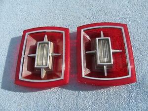 1966 Ford Galaxie 500 LH RH Taillight Rear Lamp Lenses