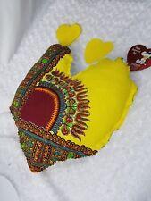 HandMade AfricanAnkara Danshiki Print Decor Heart Shaped Throw Pillow ShabbyEdge