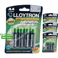 16 x Lloytron AA 2700 mAh Rechargeable Batteries NiMH LR6 HR6 MN1500 2600