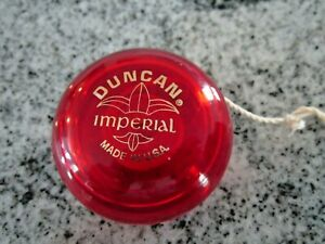 Duncan Imperial Red Translucent Yoyo with Original String