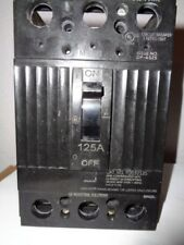 GE TQD32125 Thermal Magnetic Circuit Breaker Molded Case 125A 240V 3P Surplus
