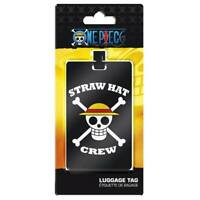 New ONE PIECE Luggage Tag Skull Luffy Straw Hat Crew Étiquette Bagage Etichetta