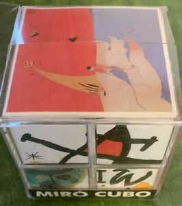 Miró CUBO Joan Miró Block Cube Art Puzzle 6 sided Each With Miro Artwork Unused