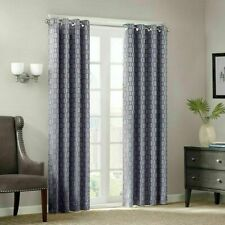 Madison Park Clare Chainlink 84inch Window Panel - Gray