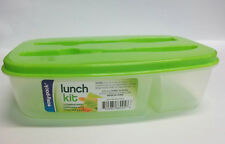 Easy Pack Plastic Storage Container with Knife and Fork Slots