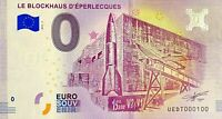 BILLET 0  EURO LE BLOCHAUS D'EPERLECQUES  FRANCE   2018  NUMERO 100