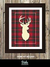 Stag Head, Deer Head, RED Stag Head Print, A4