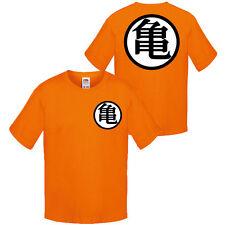 T-shirt bimbo Goku Dragon Ball inspired, Genio delle tartarughe, fronte retro