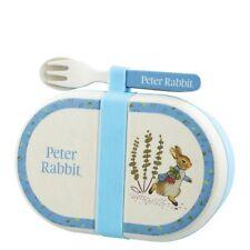 Peter Rabbit Organico Bambù Snack Box Set di posate con