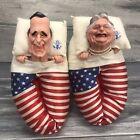 1988 President George H.W. Bush & Barbara Novelty Slippers Spitting Image Linden