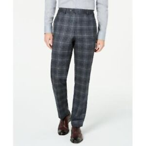 Ralph Lauren Men's Classic-Fit Stretch Plaid Dress Pants, Charcoal, 40 x 29, NwT