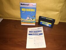 Msx BASEBALL msx msx2 Cartridge Camcorder cartridge