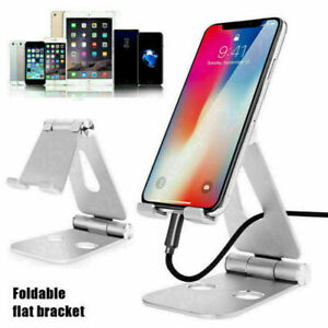 "Foldable Aluminum Desk Stand 4-13.3"" CellPhone Tablet Holder For iPhone 6 6S 5S"