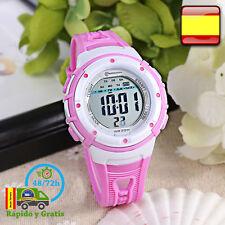 858e399265e6 Reloj de Niña Digital Infantil Deportivo Fucsia Relojes Multifunción Para  Niñas