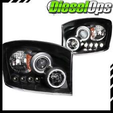 Anzo USA Projector Headlights Black with Halo CCFL for Dodge Ram 2006-2009
