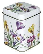Dose Krokus 100 g 7,1 x 7,1 x 9,3 cm Teebüchse Vorratsdose Kaffeedose Blumen