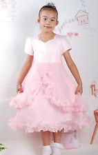 Vestido Dama De Honor Fiesta Rosa Blanco 3 4 5 6 7 8 9 AÑOS