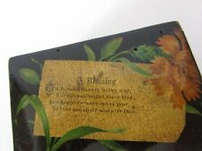"PLUMIER NAPOLEON III BOITE A PLUMES en Bois "" A BLESSING "" XIX STAMPS BOX TREEN"