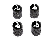 Poop - Pooping - Tire Rim Wheel Valve Stem Caps - Black