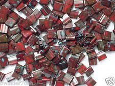 10 gr Miyuki Tila Beads - #TL-4521 - Opaque Red Picasso