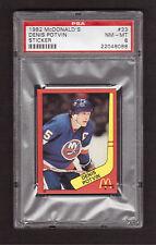Denis Potvin New York Islanders 1982 McDonald's Hockey Stickers #33 PSA 8 NM-MT
