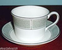 Wedgwood Shagreen Jade Tea Cup & Saucer Made in UK New
