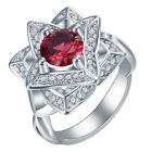 Charming 925 Sterling Silver Ruby Gemstone Ring Women Wedding Party Jewelry#5-11