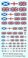 BR-127 - Union Jack, St George and St Andrew Flags - 1/144-1/285 Decals