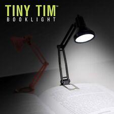 Mustard Reading Lamp Book Clip Light - Black Tiny Tim Booklight