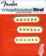New Fender Vintage Noiseless Strat Pickup Set of 3 + 3 CTS Pots and Caps +Gifts