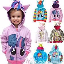 Kids Girls Boys My Little Pony Hoodies Coat Wing Sweatshirt Jumper Zipper Jacket