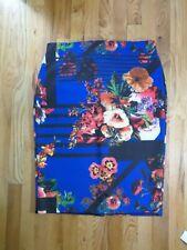 eci New York Size L skirt Blue Floral geometrical