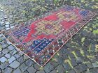 Wool rug, Bohemian rugs, Runner rug, Handmade rug, Turkish rug   3,8 x 8,2 ft