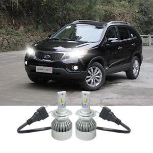 2x H7 Xenon Bulbs 100w 12v White To Fit Headlight Kia Sorento MK1 2.5 CRDi