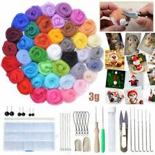 36 Colores Lana de Fibra Roving Hágalo usted mismo agujas de fieltrar Starter Kit Artesanía Mat Herramientas