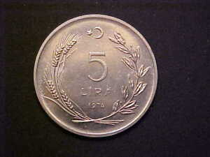 1974 Turkey 5 Lira KM# 905 - Very Nice Choice BU Collector Coin! - d2680ucx
