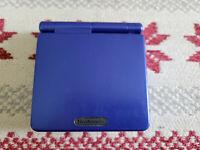 Nintendo Game Boy Advance SP Cobalt Blue Handheld System - No Charger!