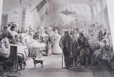 REINE BLESSES JUILLET 1830 BOURSE AMBULANCE  GRAVURE 1838 VERSAILLES R1592