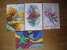 LOT 4 cartes postales Postcards JOYEUX NOEL MEILLEURS VOEUX