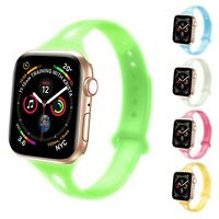 Silicone Band fits Apple Watch Series 6, 5, 4, 3, 2, 1 38mm/40mm | Glow in Dark