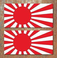 Rising Sun Laminated Stickers 200x97mm Car Motorbike Honda Suzuki Yamaha Decal