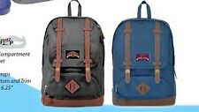 18 inch trendy backpack with leatherette bottom, padded straps, spacious bag