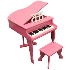 Childs Grand Baby Piano with Kids Bench of Solid Wood Construction