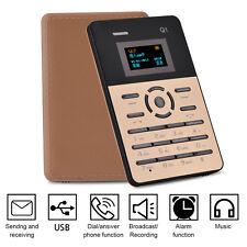AIEK Q1 Card Mobile Phone Alarm Clock Black 4mm Ultra Thin Pocket Mini Phone TP