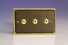 Varilight V-Pro IR  3-Gang 1-Way Remote/Touch Control Master LED Dimmer Light Sw